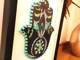 Unique gifts for home Hamsa Hand with decorate you