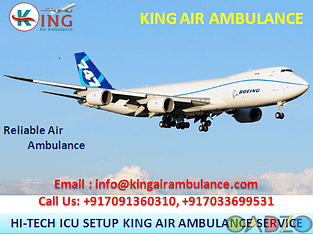 King Air Ambulance Service in Allahabad Available