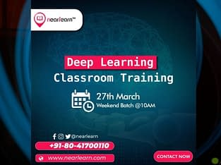 Deep Learning Classroom training course in Bangalo