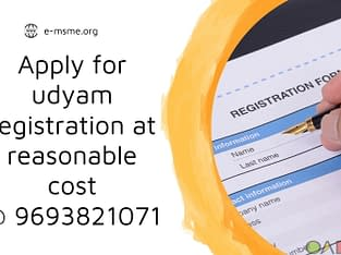 Apply for udyam registration at reasonable price