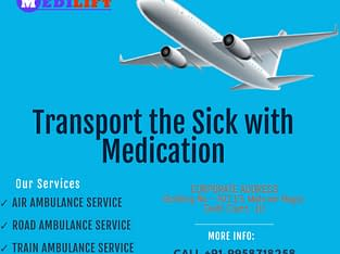 Medical Support Air Ambulance Service in Patna