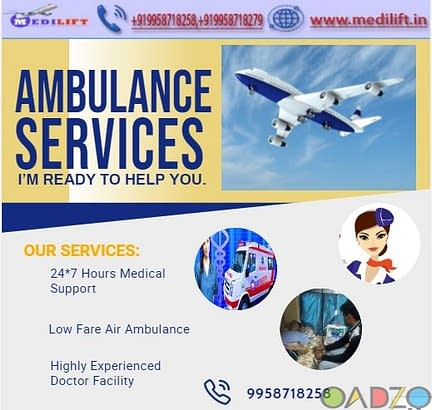 Safe Patient Transfer Air Ambulance in Ranchi